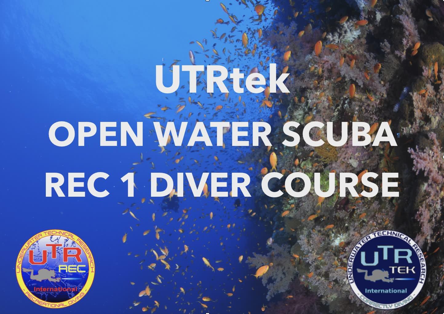 REC 1 - OPEN WATER SCUBA DIVER